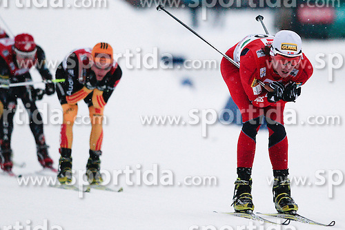 15.12.2012, Nordische Arena, Ramsau, AUT, FIS Nordische Kombination Weltcup, Gundersen, Cross Country, im Bild Kokslien Mikko (AUT) during Cross Country of FIS Nordic Combined World Cup, Gundersen at the Nordic Arena in Ramsau, Austria on 2012/12/15. EXPA Pictures © 2012, EXPA/ Federico Modica