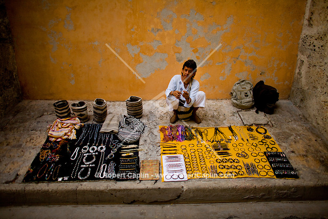 Jewelry artist in Cartagena, Colombia ..Photo by Robert Caplin..