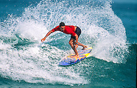 Sunny Garcia (HAW) on his way to  winning the 1995 Quiksilver Pro France at the Grand Plage, Biarritz in the South West of France. Photo: joliphotos.com
