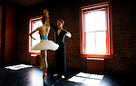Shandelle Sporer and Graham McMonagle of the new Canadian Pacific Ballet company rehearse for the full length narrative classical ballet &quot;La Flute Magique&quot; in their dance studio in Victoria, British Columbia. Photo assignment for the Globe and Mail national newspaper in Canada..