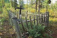 Native cemetery in the small mining town of Wiseman, Brooks Range, Alaska