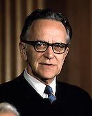 """Associate Justice of the United States Supreme Court Harry A. Blackmun photographed at the Supreme Court in Washington, D.C. on Monday, April 24, 1972.  Blackmun was appointed in 1970 by U.S. President Richard M. Nixon..Credit: Benjamin E. """"Gene"""" Forte / CNP"""