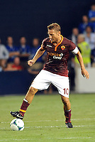 Sporting Park, Kansas City, Kansas, July 31 2013:<br /> Francesco Totti (10) forward AS Roma in action.<br /> MLS All-Stars were defeated 3-1 by AS Roma at Sporting Park, Kansas City, KS in the 2013 AT &amp; T All-Star game.