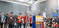 Teenagers from New York, Long Island and New Jersey compete in the FIRST Tech Challenge Regional Championship held at NYU-Polytechnic in Brooklyn in New York on Sunday, March 1, 2015. The 40 teams of high school students competed with their robots on a course which requires them to demonstrate the machines' dexterity and their technical prowess in engineering and software. The students competed for one of eight slots in the regionals and from their the championships in April. (© Richard B. Levine)