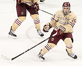 Austin Cangelosi (BC - 26) - The Boston College Eagles defeated the visiting University of Notre Dame Fighting Irish 4-2 to tie their Hockey East quarterfinal matchup at one game each on Saturday, March 15, 2014, at Kelley Rink in Conte Forum in Chestnut Hill, Massachusetts.