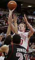 Ohio State's Matt Sylvester puts up a second half shot against St. Joseph's Jan. 31, 2004. (Photos for the Dispatch by Will Shilling