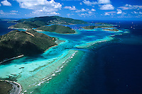 Eustatia Sound aerial<br /> Virgin Gorda.<br /> British Virgin Islands