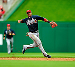 5 July 2009: Atlanta Braves' shortstop Yunel Escobar in action against the Washington Nationals at Nationals Park in Washington, DC. The Nationals defeated the Braves 5-3, to take the rubber game of their 3-game weekend series. Mandatory Credit: Ed Wolfstein Photo