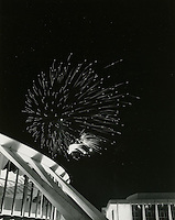 1972 January ..Redevelopment...Downtown North (R-8)..Scope Convention Center with fireworks..Millard Arnold.NEG#..