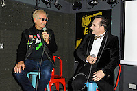 LONDON, ENGLAND - OCTOBER 22: Captain Sensible and Dave Vanian of 'The Damned' attending a Q and A session at the Hope and Anchor, Islington on October 22, 2016 in London, England.<br /> CAP/MAR<br /> &copy;MAR/Capital Pictures /MediaPunch ***NORTH AND SOUTH AMERICAS ONLY***