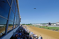 B-2 Steal Bomber flies over for the 137th Preakness at Pimlico Race Course on Preakness Day in Baltimore, MD on 05/19/12. (Ryan Lasek/ Eclipse Sportswire)