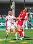 29 September 2013: University of Vermont Catamount Forward Ellie Mills, a Senior from Arlington, VA, in action against the Stony Brook University Seawolves at Virtue Field in Burlington, Vermont. The Lady Cats fell to the visiting Seawolves 2-1 in America East play. Mandatory Credit: Ed Wolfstein Photo *** RAW (NEF) Image File Available ***