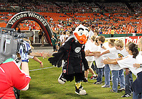 Talon, mascot of D.C. United during an MLS match against the San Jose Earthquakes at RFK Stadium in Washington D.C. on October 9 2010. San Jose won 2-0.