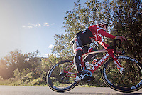 Jasper Stuyven (BEL/Trek-Segafredo) coming down the Puig de Randa<br /> <br /> Team Trek-Segafredo Training Camp <br /> january 2017, Mallorca/Spain