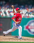 23 August 2015: Washington Nationals pitcher Felipe Rivero on the mound against the Milwaukee Brewers at Nationals Park in Washington, DC. The Nationals defeated the Brewers 9-5 in the third game of their 3-game weekend series. Mandatory Credit: Ed Wolfstein Photo *** RAW (NEF) Image File Available ***
