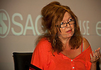 Suzanne Moore, English journalist - 2011<br /> <br /> London, 28/06/2011. A parterre de roi for this meeting organised by LSE (London School Of Economics) to discuss gagging orders, tabloid intrusion, and the right to privacy and a private life. The speakers included: George Gaskell (Pro-Director of LSE and Professor of Social Psychology), Suzanne Moore (award-winning columnist for the Guardian and the Mail on Sunday), Max Mosley (former president of Formula One), David Price (QC, founder of London media law firm David Price Solicitors &amp; Advocates), Hugh Tomlinson (QC of Matrix Chambers, specialist in media and information law including defamation, confidence, privacy and data protection). Chair of the event was Jo Glanville (editor of Index on Censorship and member of the Ministry of Justice working party on libel reform).