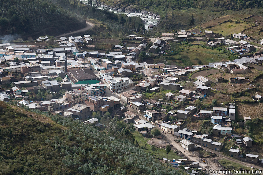Ollachea a town on the Interoceanic Highway in the Andes