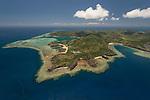 Aerial - Yadua Island with Yadua Village.