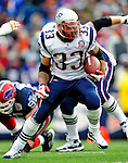 20 December 2009: New England Patriots' running back Kevin Faulk gains yardage against the Buffalo Bills at Ralph Wilson Stadium in Orchard Park, New York. The Patriots defeated the Bills 17-10. Mandatory Credit: Ed Wolfstein Photo