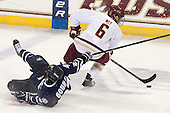 Kevin Goumas (UNH - 27), Patrick Wey (BC - 6) - The Boston College Eagles and University of New Hampshire Wildcats tied 4-4 on Sunday, February 17, 2013, at Kelley Rink in Conte Forum in Chestnut Hill, Massachusetts.