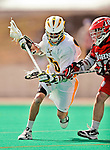 19 March 2011: University of Vermont Catamount Midfielder Kodie Englehart, a Freshman from Coronado, CA, in action against the St. John's University Red Storm at Moulton Winder Field in Burlington, Vermont. The Catamounts defeated the visiting Red Storm 14-9. Mandatory Credit: Ed Wolfstein Photo