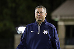 17 October 2014: Notre Dame assistant coach BJ Craig. The Duke University Blue Devils hosted the Notre Dame University Fighting Irish at Koskinen Stadium in Durham, North Carolina in a 2014 NCAA Division I Men's Soccer match. Notre Dame won the game 4-1.