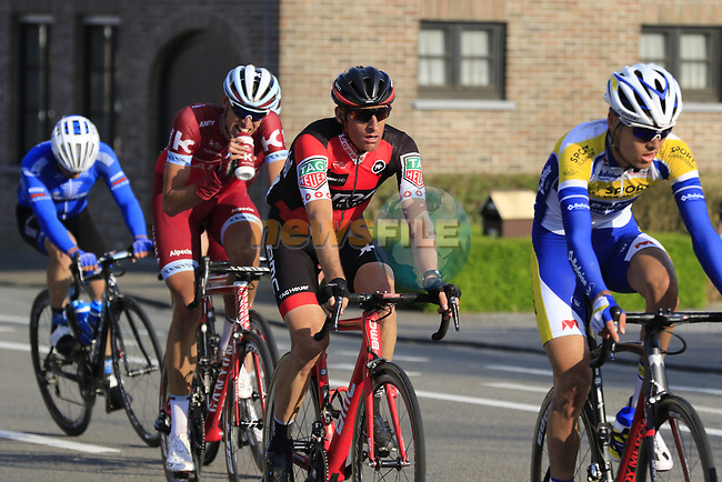 The peloton including Martin Elmiger (SUI) BMC with 12k to go during the 60th edition of the Record Bank E3 Harelbeke 2017, Flanders, Belgium. 24th March 2017.<br /> Picture: Eoin Clarke   Cyclefile<br /> <br /> <br /> All photos usage must carry mandatory copyright credit (&copy; Cyclefile   Eoin Clarke)