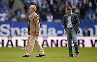 FUSSBALL   1. BUNDESLIGA   SAISON 2013/2014   4. SPIELTAG Hamburger SV - Eintracht Braunschweig                  31.08.2013 Carl Edgar Jarchow (li) und Sportdirektor Oliver Kreuzer (re, beide Hamburger SV)