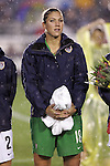 27 April 2008: Hope Solo (USA). The United States Women's National Team defeated the Australia Women's National Team 3-2 at WakeMed Stadium in Cary, NC in a rain delayed women's international friendly soccer match.
