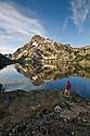 ID00381-00...IDAHO - Mount Regan reflecting on Sawtooth Lake in the Sawtooth Wilderness Area.