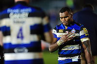 Semesa Rokoduguni of Bath Rugby looks dejected after the match. Aviva Premiership match, between Bath Rugby and Exeter Chiefs on December 31, 2016 at the Recreation Ground in Bath, England. Photo by: Patrick Khachfe / Onside Images