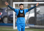 St Johnstone Training&hellip;.31.03.17<br />Richie Foster pictured training on the astroturf at McDiarmid Park this morning ahead of tomorrow&rsquo;s game at Hamilton.<br />Picture by Graeme Hart.<br />Copyright Perthshire Picture Agency<br />Tel: 01738 623350  Mobile: 07990 594431