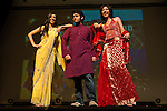 03/04/2011 - Medford/Somerville, Mass. Ritika Naik, A14, Ketan Kumar, E14, and Madhuri Khanna, A14, represented India in the annual Parade of Nations celebration on Friday, March 4, 2011.  (Alonso Nichols/Tufts University)
