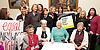 Women from the original Dagenham equal pay strike and Stars from cast of hit musical 'Made in Dagenham' at House of Commons for Pay Transparency vote<br /> <br /> 16th December 2014 <br /> outside Parliament <br /> <br /> Parliament will next week vote on the implementation of section 78 of the Equality Act (2010) to require large companies to publish their pay gap. <br /> <br /> <br /> Gwen Davis<br /> Eileen Pullen <br /> Gloria De Piero MP<br /> Gemma Arterton <br /> actress currently appearing in made in Dagenham <br /> Vera Sime<br /> Sheila Douglass<br /> <br /> with Labour MP's <br /> <br /> <br /> Photograph by Elliott Franks <br /> Image licensed to Elliott Franks Photography Services