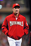 29 September 2009: Washington Nationals' Manager Jim Riggleman returns to the dugout after a game against the New York Mets at Nationals Park in Washington, DC. The Nationals rallied to defeat the Mets 4-3 in the second game of their final 3-game home series. Mandatory Credit: Ed Wolfstein Photo