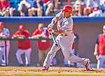 8 March 2013: St. Louis Cardinals outfielder Adron Chambers in action during a Spring Training game against the Washington Nationals at Space Coast Stadium in Viera, Florida. The Cardinals defeated the Nationals 16-10 in Grapefruit League play. Mandatory Credit: Ed Wolfstein Photo *** RAW (NEF) Image File Available ***