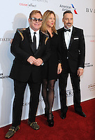 NEW YORK, NY - NOVEMBER 02: Elton John, Diana Krall and David Furness attend 15th Annual Elton John AIDS Foundation An Enduring Vision Benefit at Cipriani Wall Street on November 2, 2016 in New York City.Photo by John Palmer/ MediaPunch