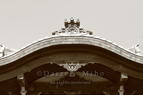 Mar 8, 2006; Tokyo, JPN; Ueno.Roof detail of shrine at Ueno Park...Photo credit: Darrell Miho
