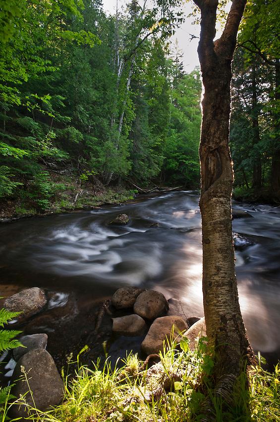 Dawn on the Carp River near Marquette in Michigan's Upper Peninsula.