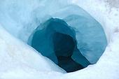 Crevasse in Adamello-Mandrone Glacier, Alps, Italy