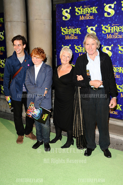 """Dame Judi Dench and boyfriend arrives for the 1st night party of """"Shrek The Musical"""" at Somerset House, London. 14/06/2011  Picture by: Steve Vas / Featureflash"""