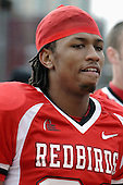 04 November 2006: Laurent Robinson.&amp;#xD;In a decisive victory, the Illinois State Redbirds defeat the Missouri State Bears 38-14 at Hancock Stadium on the campus of Illinois State University in Normal Illinois.<br />