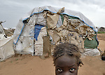 A girl in the Dereig Camp for families internally displaced by Darfur's conflict.