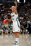 01 APRIL 2012:  Skylar Diggins (4) of the University of Notre Dame directs her offense against the University of Connecticut during the Division I Women's Final Four Semifinals at the Pepsi Center in Denver, CO.  Notre Dame defeated UCONN 83-75 to advance to the national championship game.  Jamie Schwaberow/NCAA Photos