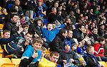 St Johnstone v Dunfermline....25.02.12   SPL.A busy Ormon Stand due to the £10 adult and 2 kids special entry offer.Picture by Graeme Hart..Copyright Perthshire Picture Agency.Tel: 01738 623350  Mobile: 07990 594431