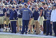 Annapolis, MD - December 3, 2016: Navy Midshipmen head coach Ken Niumatalolo during game between Temple and Navy at  Navy-Marine Corps Memorial Stadium in Annapolis, MD.   (Photo by Elliott Brown/Media Images International)