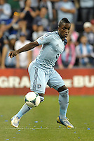 KANSAS CITY, KS - June 1, 2013:<br /> Mechack Jerome (24) defender Sporting KC in action.<br /> Montreal Impact defeated Sporting Kansas City 2-1 at Sporting Park.
