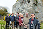 Killeagh Abbey restoration Group project Milltown has been completed with the the repair of the corner stone in the west gable pictured  Cathaoirleach of Kerry County Council councillor, Michael D O'Shea with Project members Pat McKenna, Chairman, James Cronin, Donie McCarthy, Michael O'Sullivan, Billy Spring, Michael Connelly (County Archaeologist), David Russell, Colm Griffin