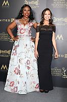 LOS ANGELES - APR 28:  Lauren Lake, Emily Calandrelli at the 44th Creative Daytime Emmy Awards at the Pasadena Civic Auditorium on April 28, 2017 in Pasadena, CA