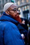 "Muslims holds a protest demanding ""detoxification"" of brainwashed Police officers and resignation of police top Brass in New York, USA.  January 3, 2012. Photo by Eduardo Munoz Alvarez / viewpress"